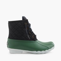Women's Sperry For J.Crew Shearwater Quilted Boots Green Navy Mint