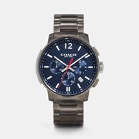 Coach Bleecker Slim Chrono Gunmetal Bracelet Watch Navy