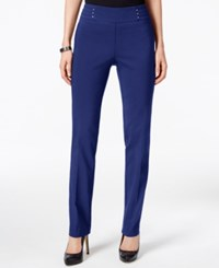 Jm Collection Petite Studded Pull On Pants Only At Macy's Blue Sapphire