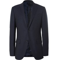 Ermenegildo Zegna Blue Slim Fit Wool Travel Blazer Navy