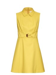 Red Valentino Sleeveless A Line Mini Dress Yellow