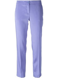 Blumarine Cropped Tailored Trousers Blue