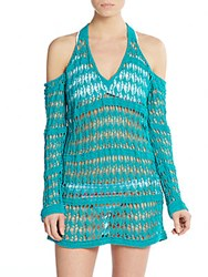 L Space Windswept Knit Coverup Peacock