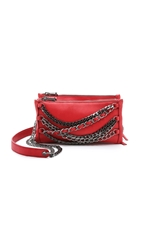 Ash Domino Chain Cross Body Bag Red
