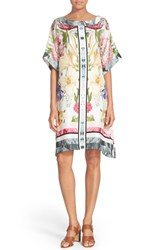 Ted Baker Women's London 'Geyle' Floral Print Mulberry Silk Tunic