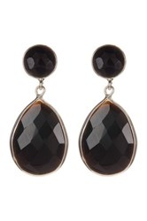 Savvy Cie Onyx Teardrop Earrings Black