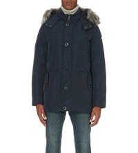 Michael Kors Arctic Faux Fur Trim Shell Parka Midnight