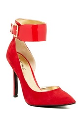 Guess Allay Ankle Cuff Pump Red