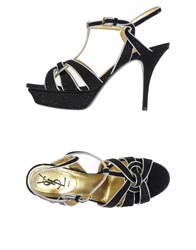 Yves Saint Laurent Rive Gauche Sandals Black