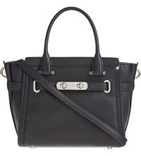 Coach Swagger 21 Pebbled Leather Tote Sv Black
