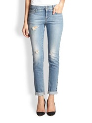 Stella Mccartney Distressed Skinny Jeans Blue Whale