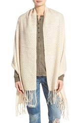 Junior Women's David And Young Basket Weave Blanket Wrap