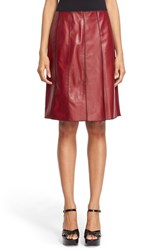Women's Marc Jacobs Seamed Leather A Line Skirt