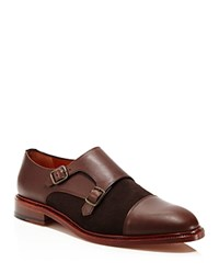 Crosby Square Diplomat Cap Toe Double Monk Strap Dress Shoes Chocolate