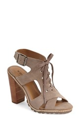 Women's Kelsi Dagger Brooklyn 'London' Lace Up Sandal Taupe Suede