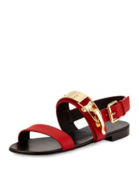 Giuseppe Zanotti Men's Ski Buckle Leather Strap Sandal