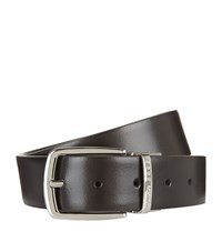 Boss Reversible Leather Belt Unisex Black
