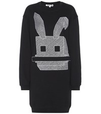 Mcq By Alexander Mcqueen Embroidered Cotton Sweater Dress Black