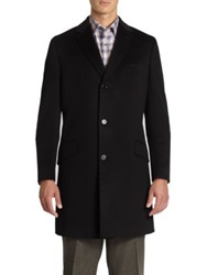 Saks Fifth Avenue Wool And Cashmere Coat Camel Navy Black