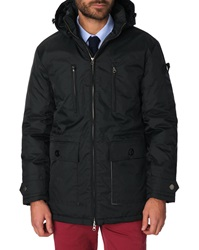 Menlook Label Dick Black Parka