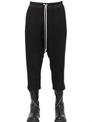 Rick Owens Cropped Wool Blend Boucle Pants