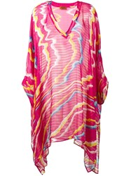 Missoni Swirl Colour Tunic Pink And Purple
