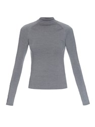 Balenciaga Staple Embellished Sleeves Wool Top