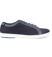 Ted Baker Slowne Ii Suede Trainers Grey