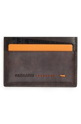 Men's Magnanni 'Arkansas' Leather Card Holder Grey