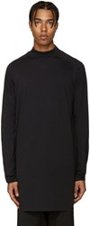 Y 3 Black Mock Neck T Shirt