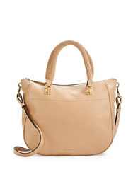 Calvin Klein Pebbled Leather Shoulder Bag Nude