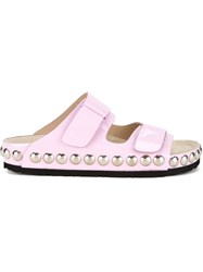 Giambattista Valli Studded Sole Slider Sandals Pink And Purple