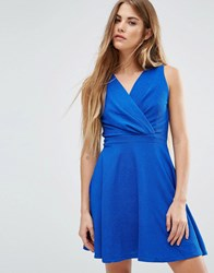 Wal G Skater Dress Blue