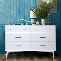 Mid Century 6 Drawer Dresser White West Elm