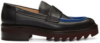 Carven Black Leather Loafers