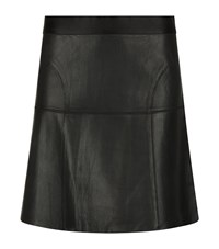 Reiss Chiya Leather A Line Skirt Female Black