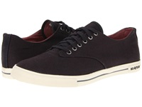 Seavees 08 63 Hermosa Plimsoll Core Slate Navy Vintage Wash Linen Men's Lace Up Casual Shoes Brown