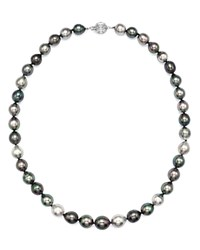 Bloomingdale's Cultured Tahitian Pearl Necklace In 14K White Gold 18 Multi White Gold