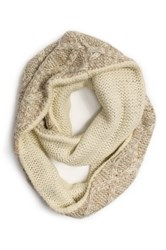 Muk Luks Textured Diamond Eternity Scarf Beige