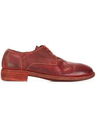 Guidi Derby Shoes Red