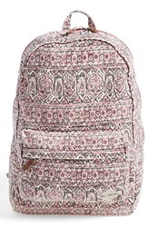 Junior Women's Billabong 'Hand Over Love' Backpack Red Black Cherry