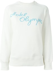 Olympia Le Tan Hotel Olympia Embroidered Sweatshirt White