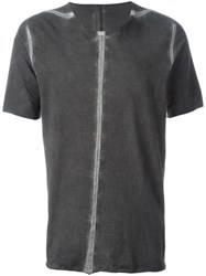 Isaac Sellam Experience Seam Detail T Shirt Grey