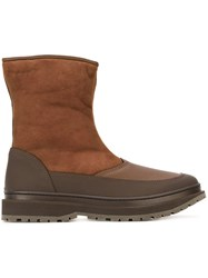 Brunello Cucinelli Zipped Boots Brown