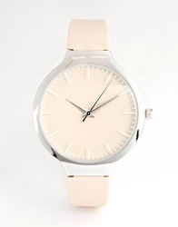 New Look Oversize Sleek Silicon Watch Nude