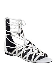 Kendall Kylie Cody Suede Gladiator Sandals White