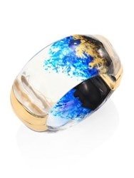 Alexis Bittar Lucite Clear Bangle Indigo