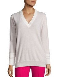 Agnona Cashmere Blend Pullover Oatmeal