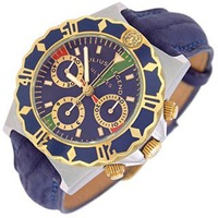 Julius Legend Ulysses Diver Gold And Stainless Steel Chronograph Dark Blue