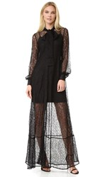 Mcq By Alexander Mcqueen Lace Gown Black